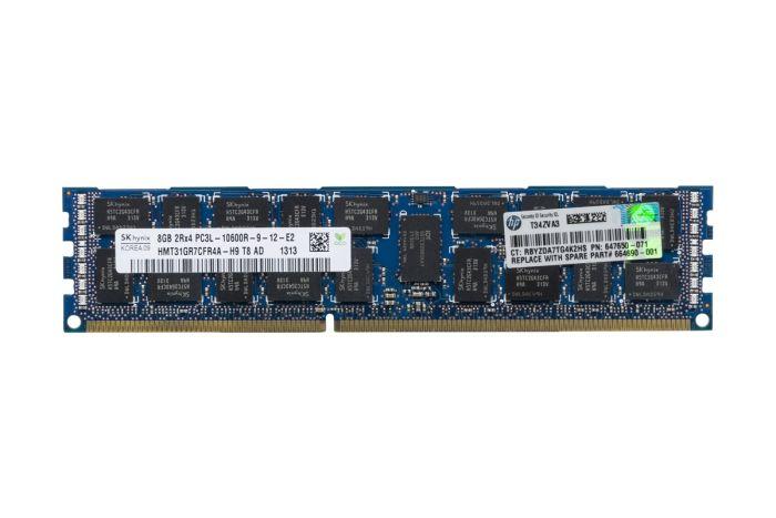 HP 8GB PC3L-10600R 2Rx4 ECC 647650-071 Ref