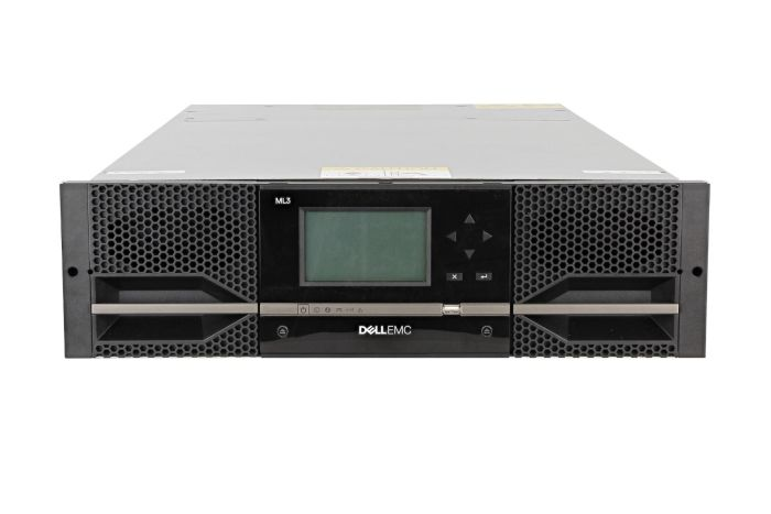 Dell PowerVault ML3 with 3 x LTO-8 FC Half Height Tape Drives