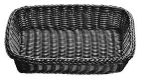 Leipäkori muovi musta 41x28,5 cm