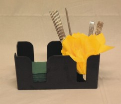 Servettiteline musta