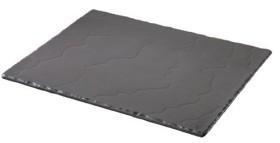Tarjoiluvati musta GN 1/2 32,5x26,5x1 cm