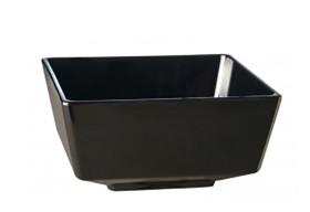 Neliökulho melamiini musta 12,5x12,5 cm 0,5 L