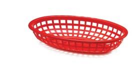 Leipäkori soikea punainen 27 cm