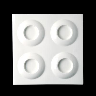 Neliölautanen 4:lle kupille Curry 30x30 cm