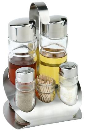 Sirotinsetti suola/pippuri/öljy/etikka/hammastikku