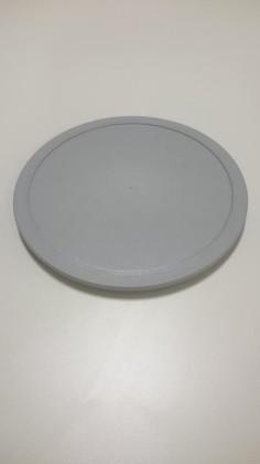Kansi muovi harmaa Ø 17,8 cm
