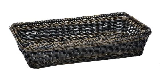 Leipäkori pinottava tummanruskea GN 2/3 K 6,5 cm