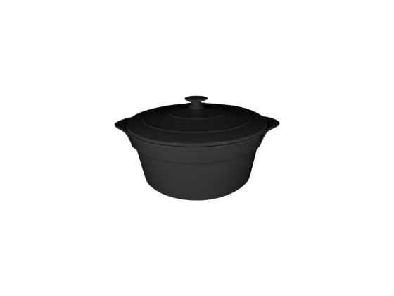 Pata kannellinen musta Ø 28 cm 4,6 L