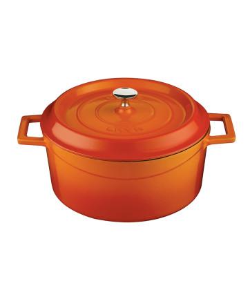 Valurautapata oranssi Ø 24 cm 4,49 L