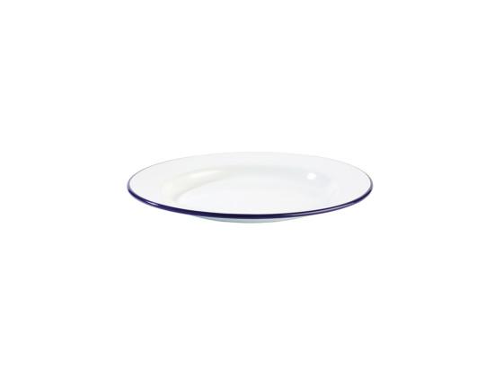 Lautanen pinottava emaloitu valkoinen Ø 24 cm