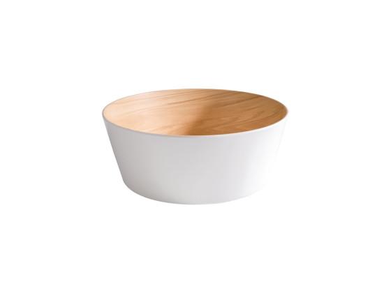 Kulho melamiini valkoinen/koivu 3,4 L Ø 26,5 cm