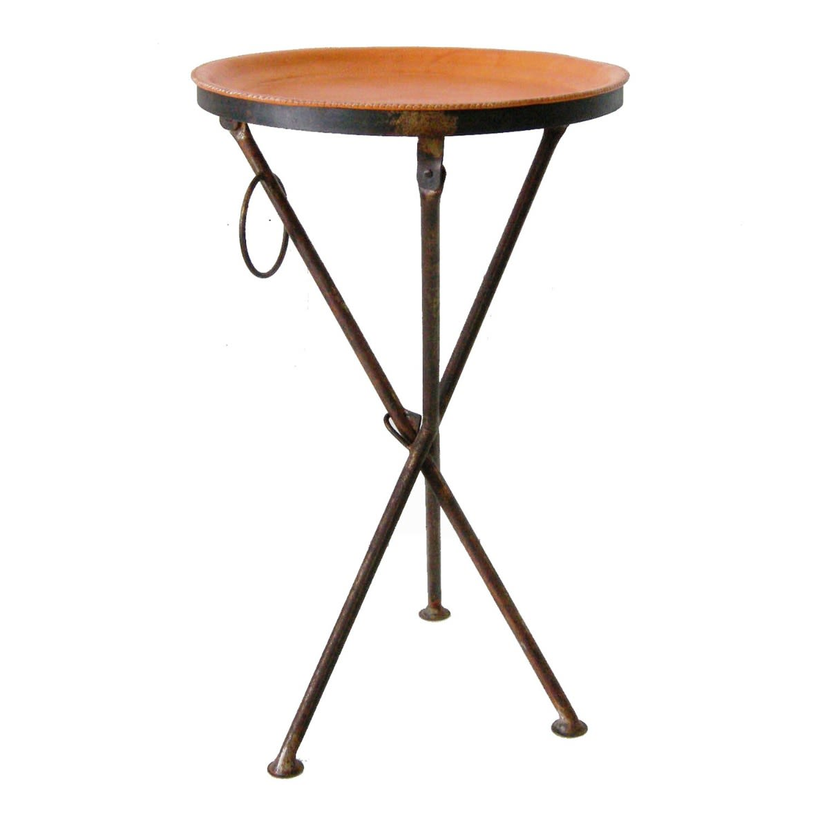 - Small Folding Leather Table