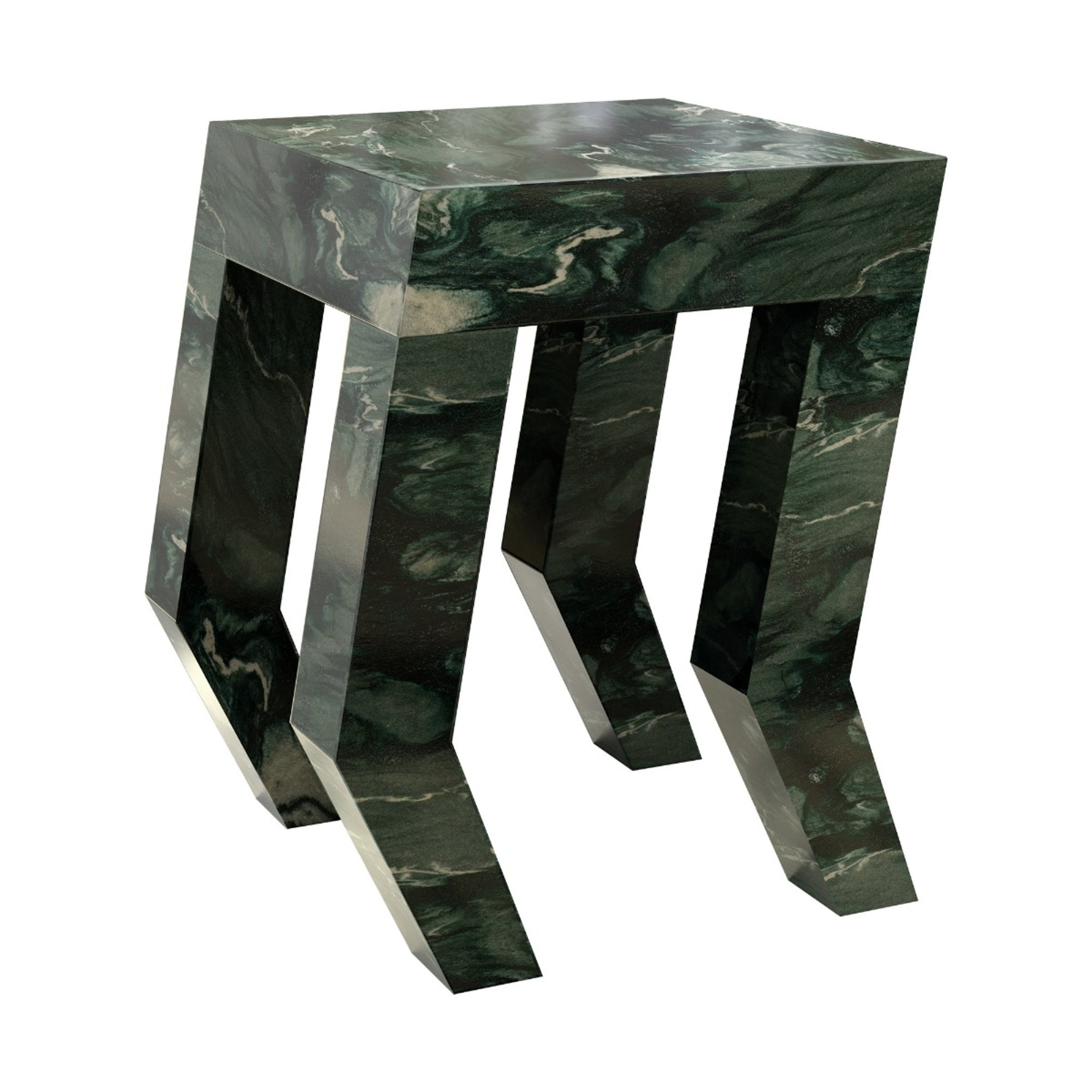 Atlas Green Marble Side Table