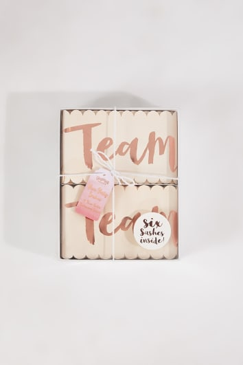 GINGER RAY PINK AND ROSE GOLD 6 PACK TEAM BRIDES SASHES