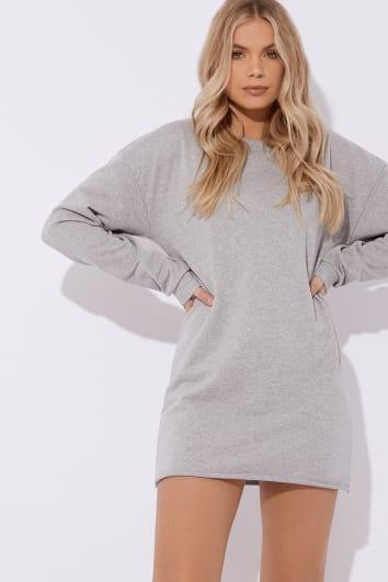 LOUNA GREY OVERSIZED SWEATER DRESS