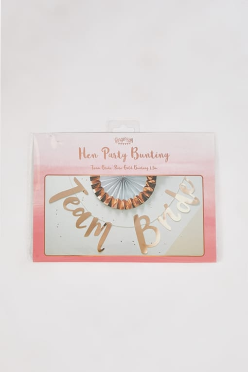 GINGER RAY ROSE GOLD TEAM BRIDE BUNTING
