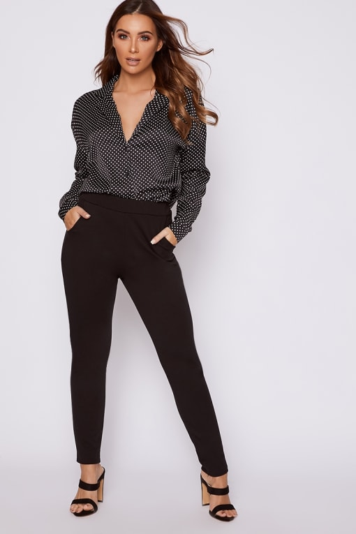 KATE BLACK CIGARETTE TROUSERS