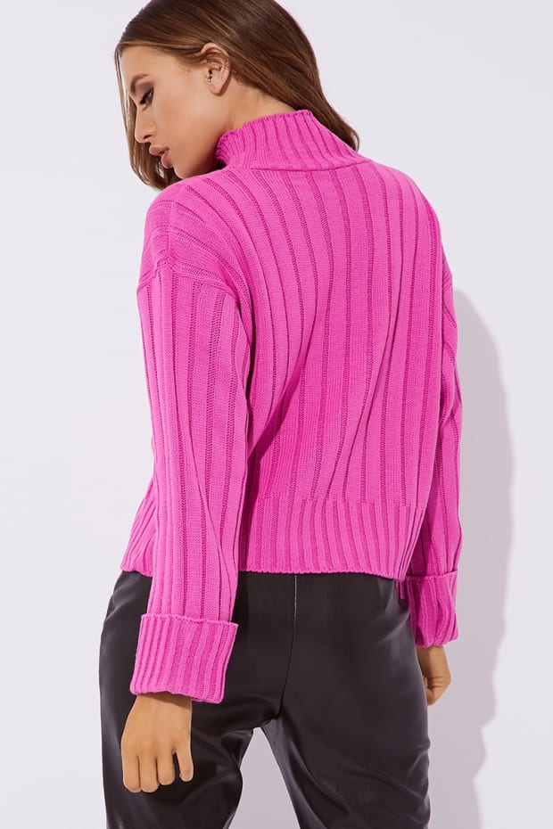 f642d2207 Previous. LENE RASPBERRY CHUNKY KNIT HIGH NECK JUMPER. LENE RASPBERRY  CHUNKY KNIT HIGH NECK JUMPER