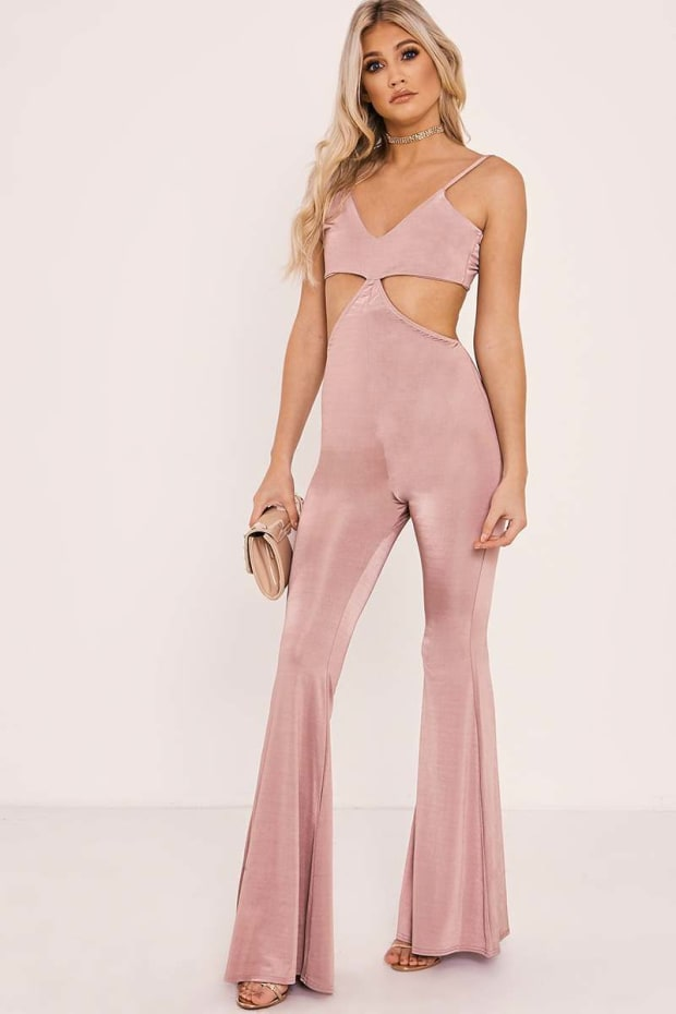 TANAE ROSE STRAPPY CUT OUT JUMPSUIT