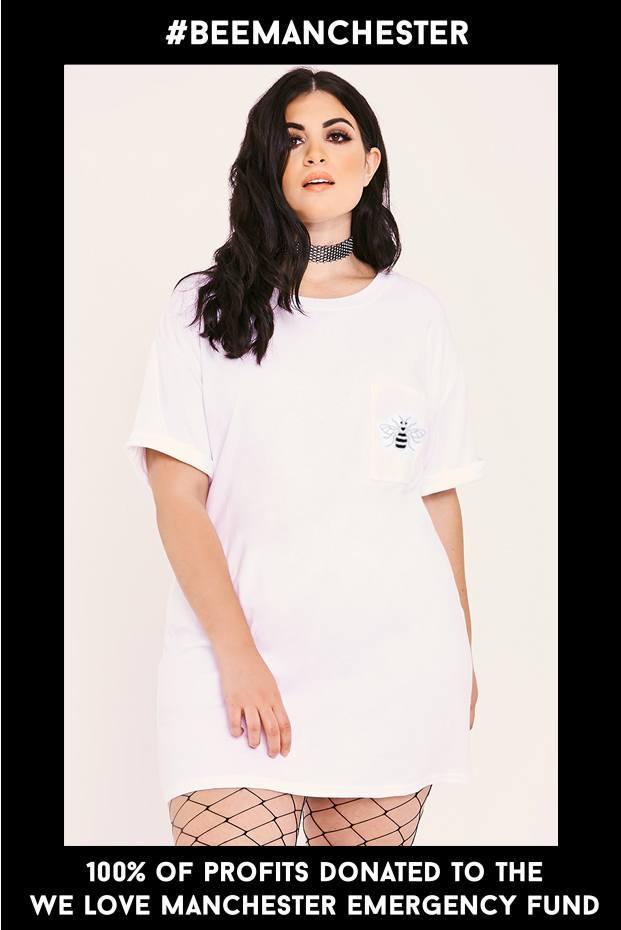 #BEEMANCHESTER CURVE CHARITY T-SHIRT DRESS