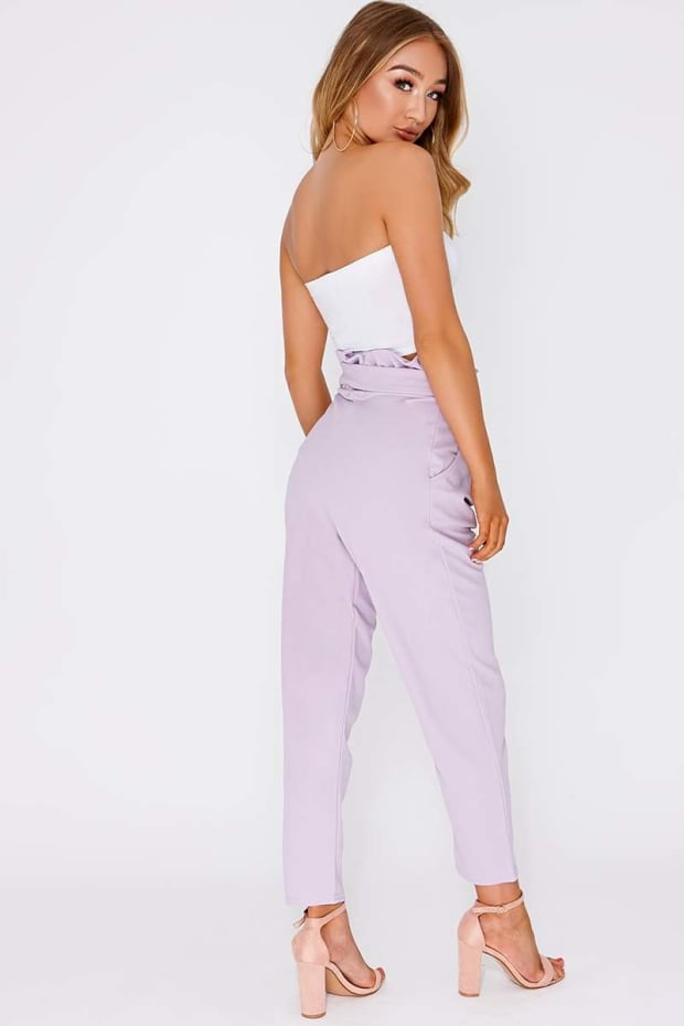 253e84b577 Codia Lilac Paperbag Skinny Trousers