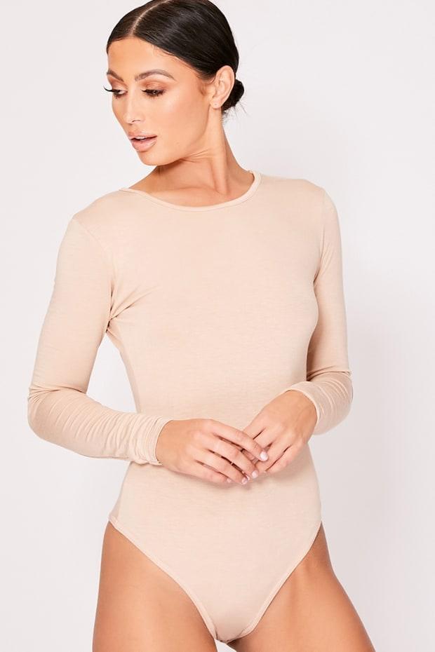 bfaa769b3 Basic Nude Long Sleeve Bodysuit
