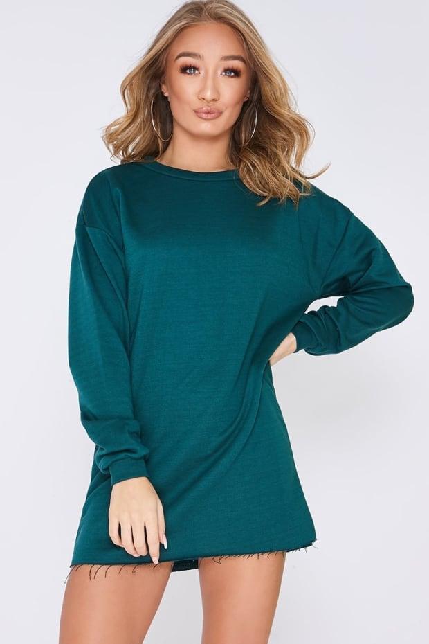 LOUNA GREEN OVERSIZED SWEATER DRESS