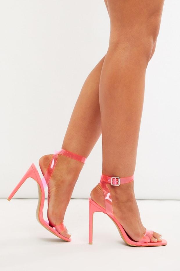59457413aafb Minili Neon Pink Clear Heels
