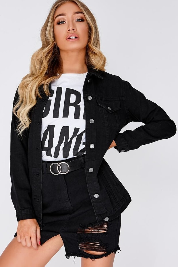 JAYDEE BLACK DENIM JACKET