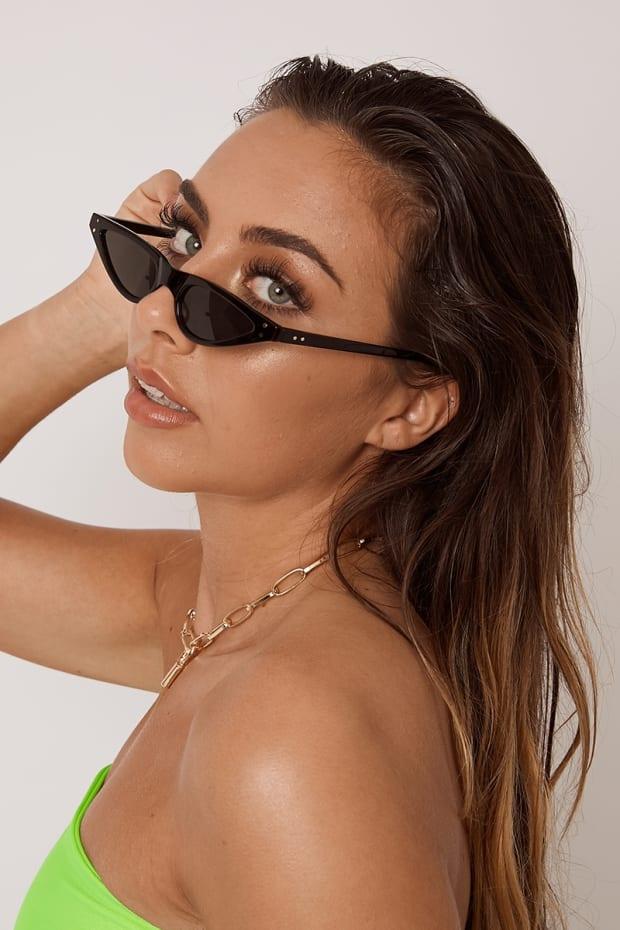 9507e4477cf Black Extreme Cat Eye Sunglasses
