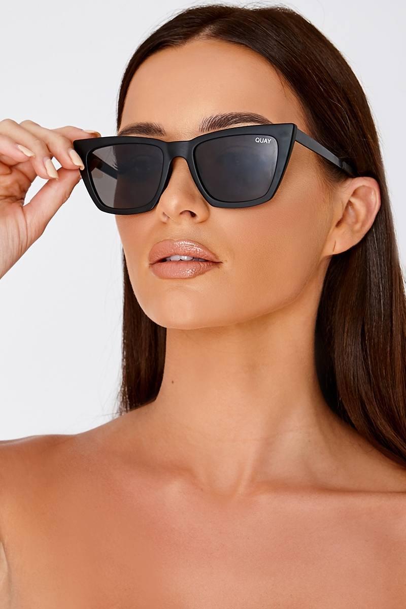 292680a03b9 Quay Don t   Me Black Catseye Sunglasses