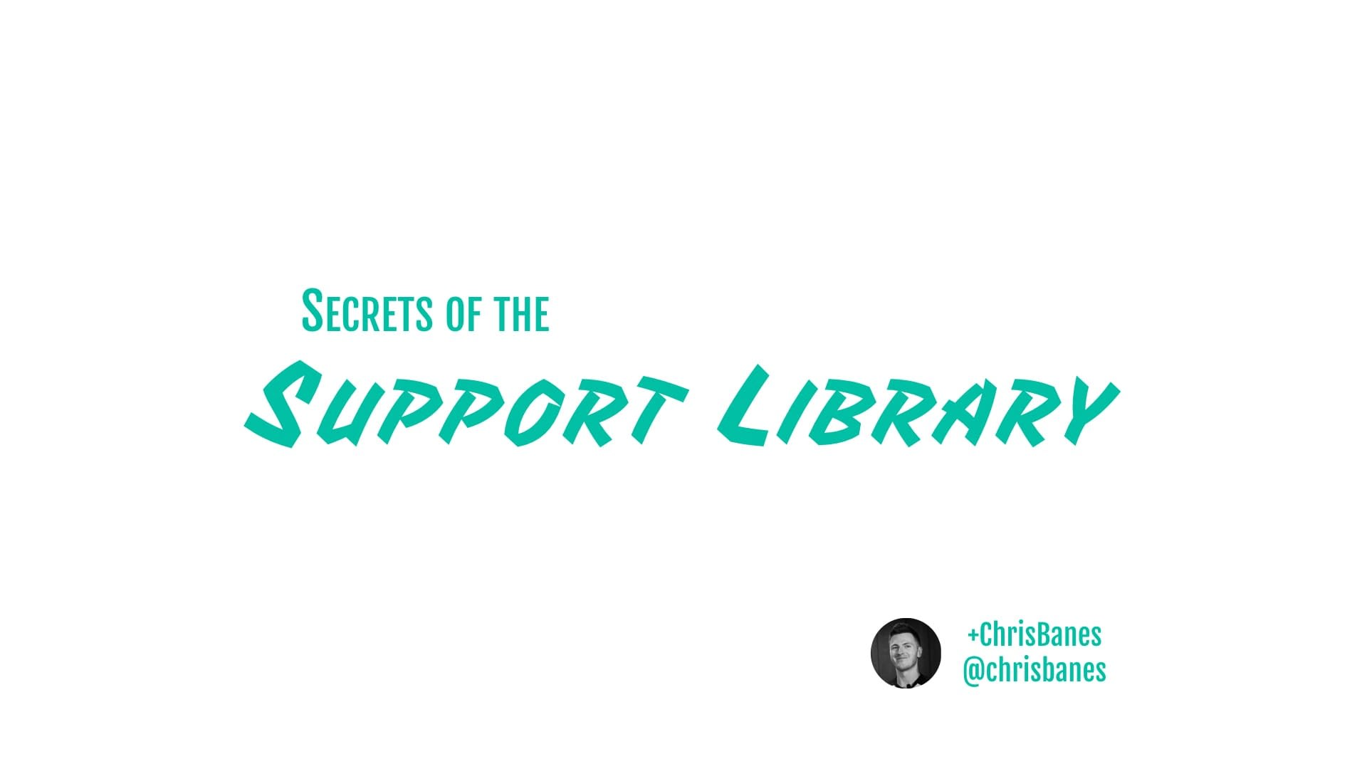 Secrets of the Support Library