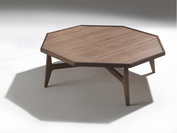 Marrakesh Coffee table 107 cm x 107 cm with wooden top by Porada
