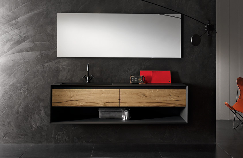 Iks full unit with integrated washbasin and open - Etageres salle de bain ikea ...