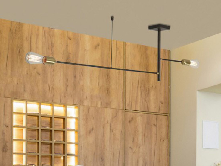 Agò: Ceiling lamp available in different finishings