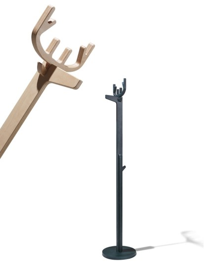 Ales: Freestanding coat rack available in different colours