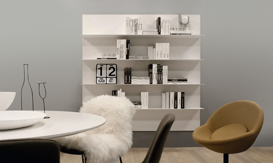 All: Shelf with back panel in different sizes and finishings