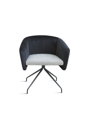 Balù Office: Small armchair with padded seat in different finishings
