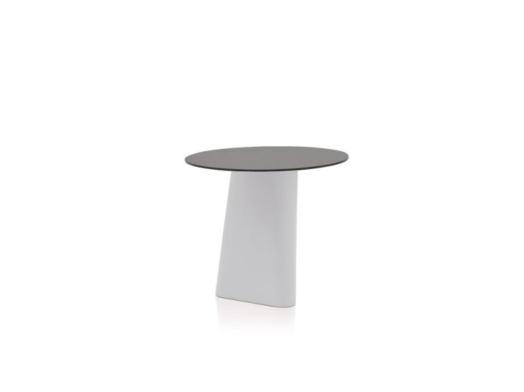 Adam: Table with laminate top Ø80 cm H 72 cm
