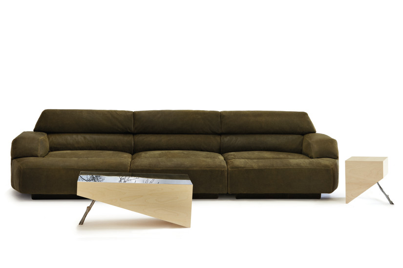 Virgo: Sofa upholstered in different materials