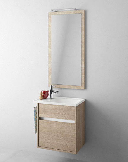 Duetto 16: Monoblock W 56 cm D 34 cm with 2 drawers