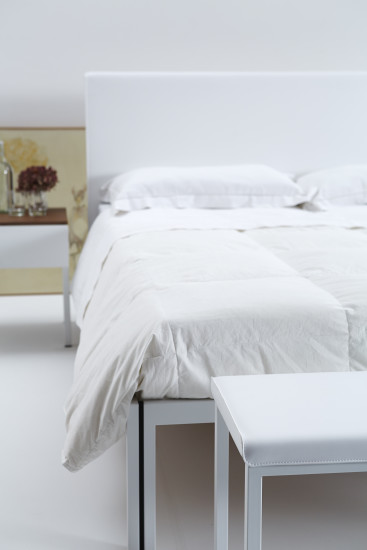 Maya Bed: Bed in different sizes with eco-leather headboard