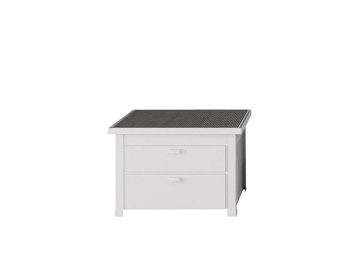 Mini Minà - Worktop: Freestanding worktop unit with 2 drawers