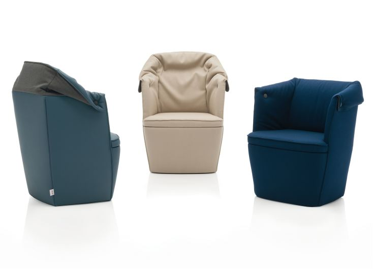 Overpass: Armchair upholstered in different materials