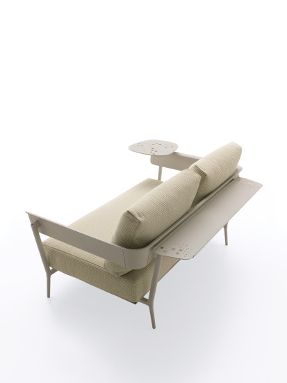 Aikana: 2 seater sofa with armrests in different finishings
