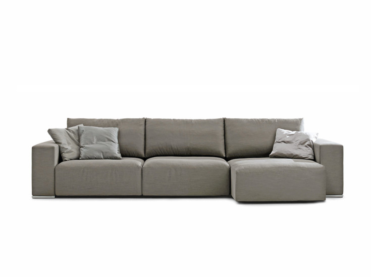 Taos 100 Large: Sofa W 335 cm upholstered in fabric or leather