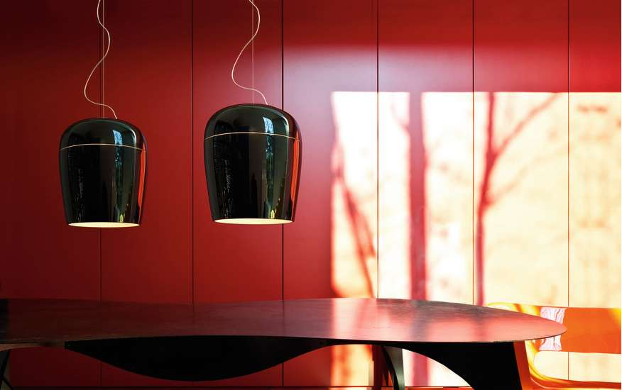 Tiara S5: Pendant lamp Ø360 mm in different finishings