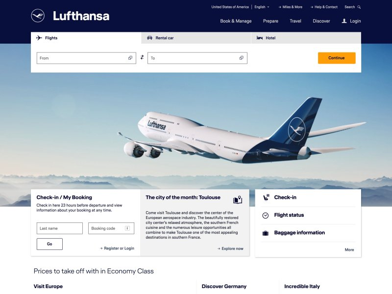 Lufthansa ® United States of America