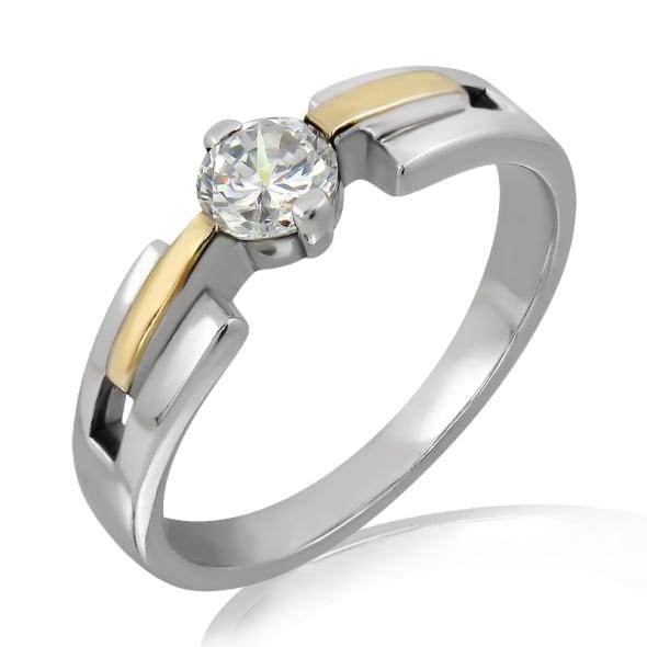 แหวนทอง 18K ประดับเพชร น้ำหนักรวม 0.30 กะรัต ค่าสี D ค่าความสะอาด VS1 EX/EX/EX เพชรมาพร้อมใบรับรองจากสถาบัน GIA