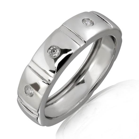 แหวนหมั้นชาย ทอง 18K ประดับเพชร น้ำหนักรวม 0.05 กะรัต ค่าสี F ค่าความสะอาด VS